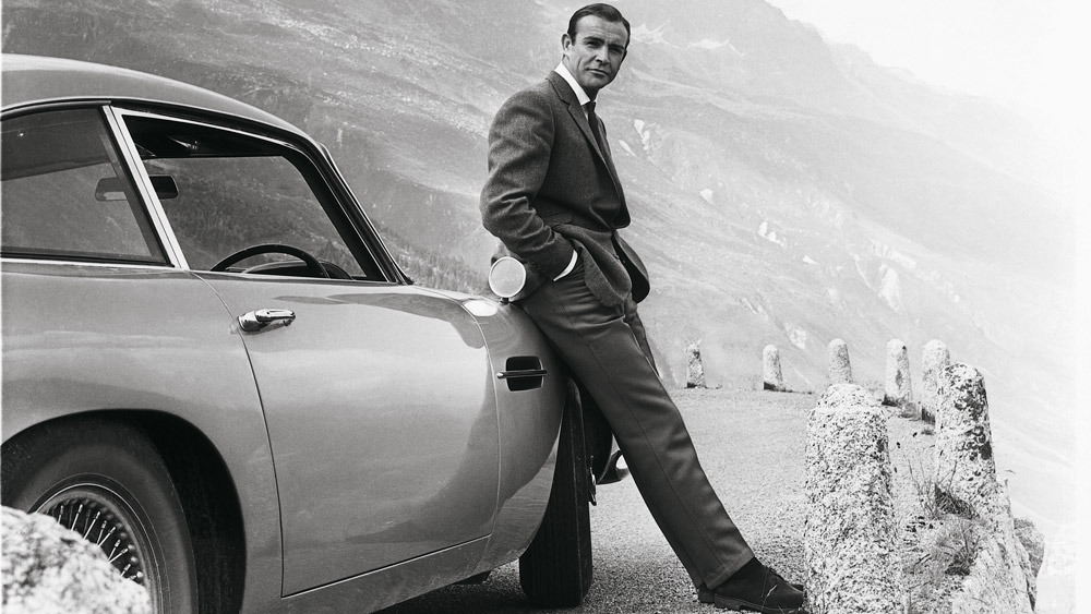 Aston Martin featured in the iconic James Bond film, Goldfinge