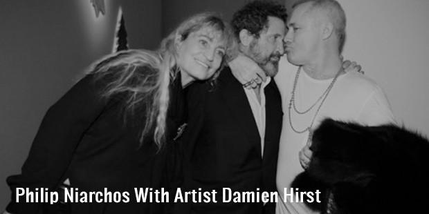 Philip-Niarchos-With-Artist-Damien-Hirst