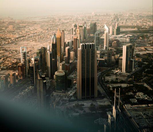 View from Burj Khalifa to the Sheikh Zayed Road. By Ayko Neil Kehl