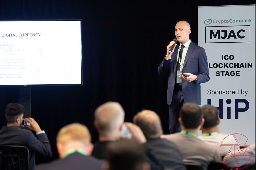 CCO Ryan Case at MJAC Blockchain Summit in London