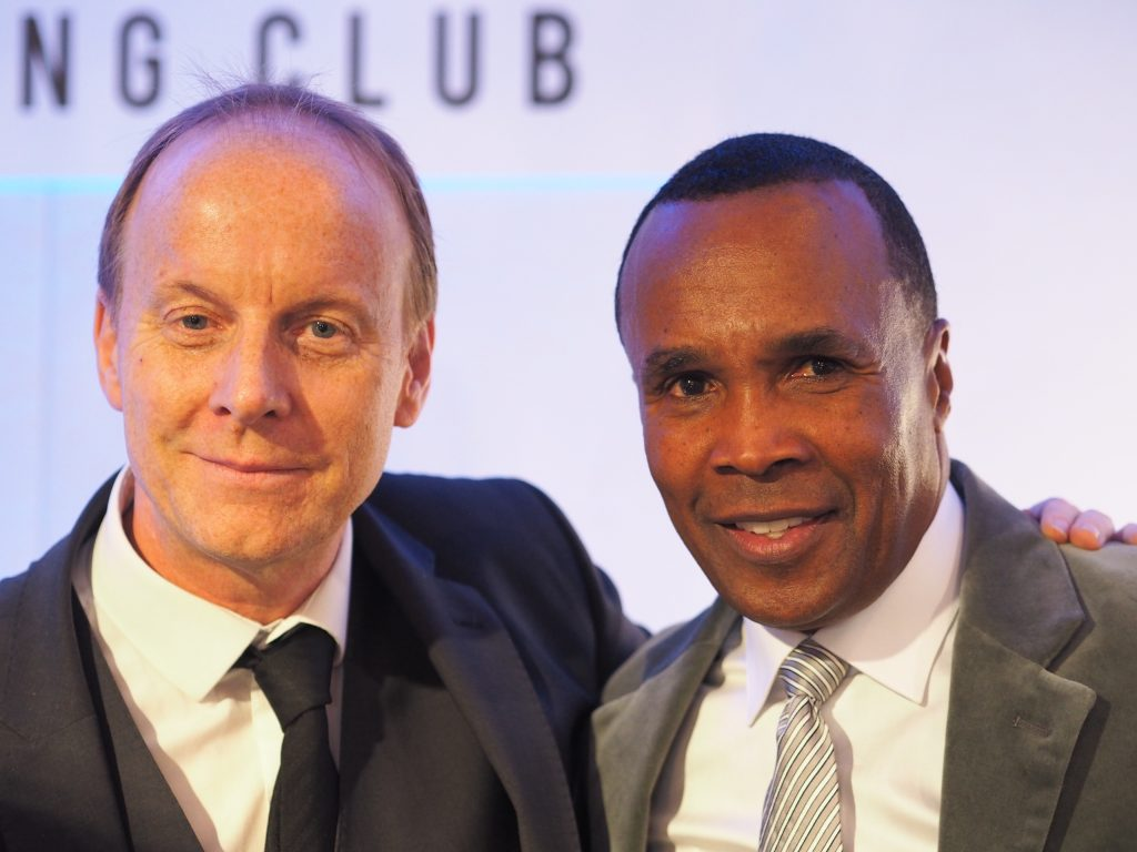 Ian Stafford and Sugar Ray Leonard