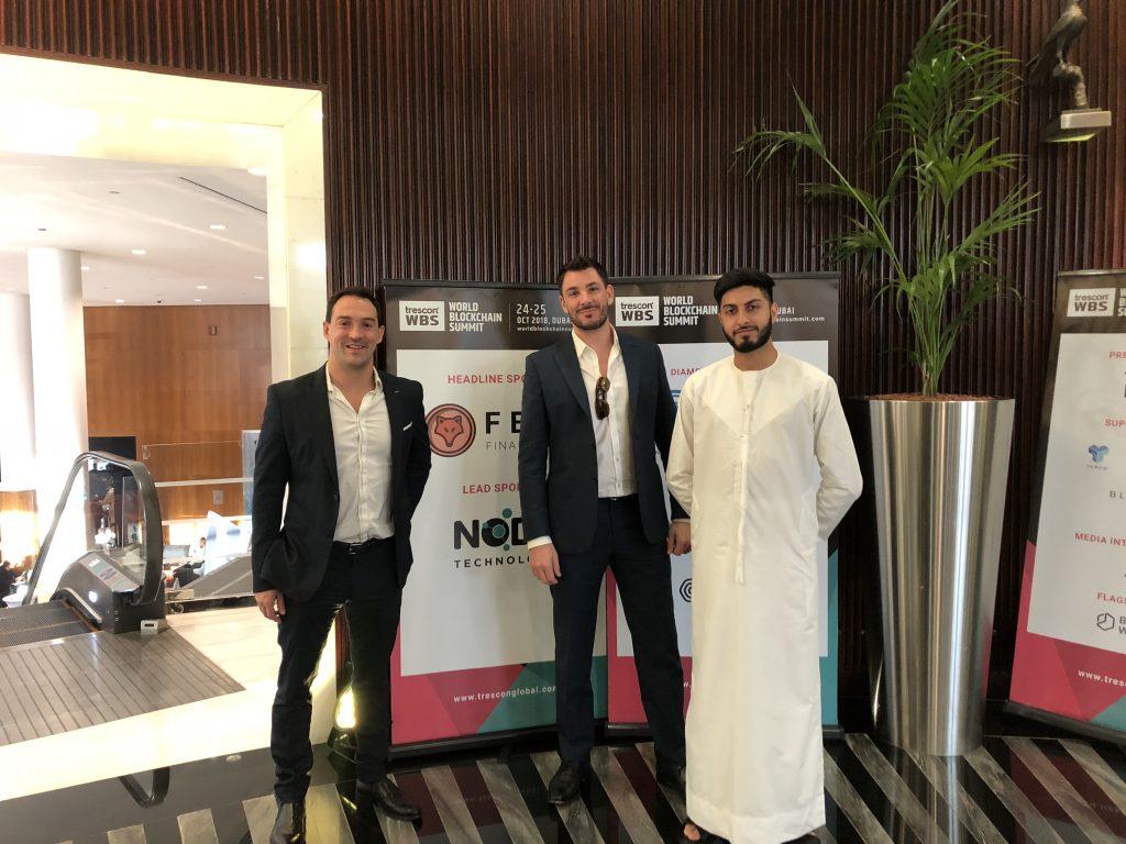 Kinesis team at World Blockchain Summit in Dubai