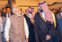 Modi and Crown Prince of Saudi during visit February 2019